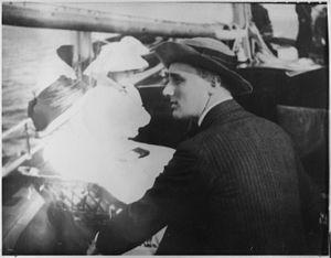 Franklin D. Roosevelt with Sara Delano Rooseve...