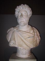 Buste de Marc Aurèle exposé au British Museum de Londres.