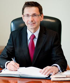 English: Mikolaj Budzanowski - Under-Secretary...
