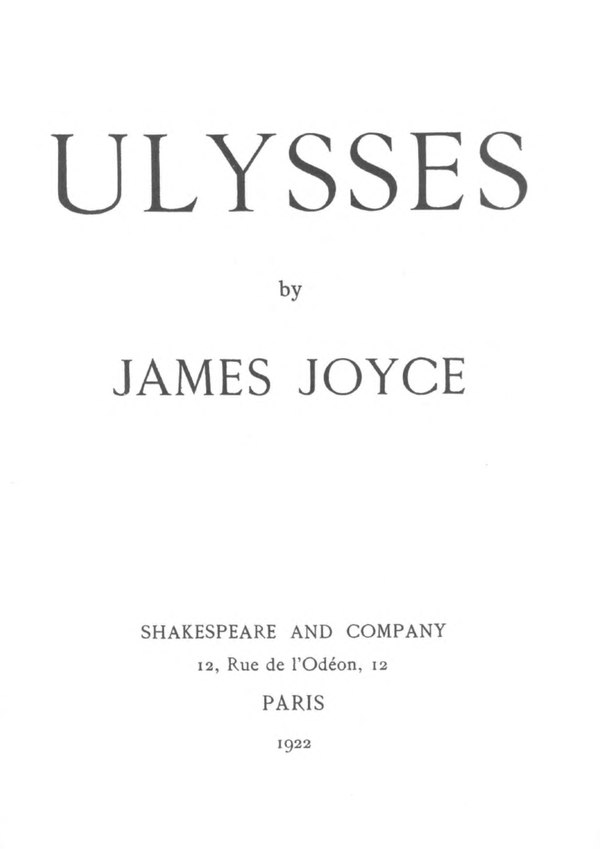 Annotations to James Joyce's Ulysses/Title Page