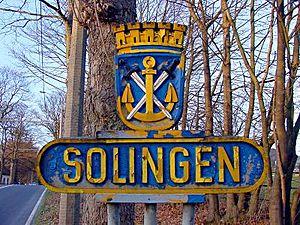 Deutsch: Solinger Stadtwappen - Burger Landstraße