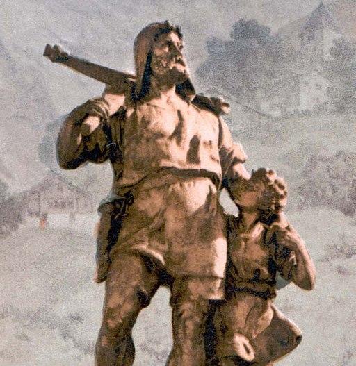 Wilhelm Tell Denkmal Altdorf um 1900 Detail