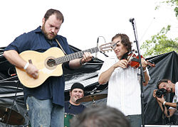 Zac Brown Band performing in 2008.