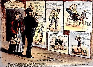 Republican campaign poster from 1896 attacking...