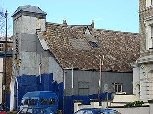 Corrugated iron church in Kilburn, London, UK