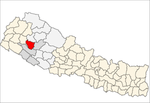 Location map of Dailekh District (wp-EN), in N...