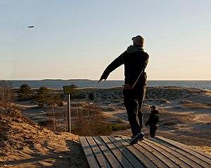 Disc golf in Yyteri. Suomi: Frisbeegolfia Yyte...