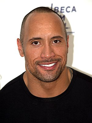 English: Dwayne Johnson at the 2009 Tribeca Fi...