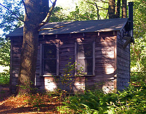 English: Cabin at Steepletop, Austerlitz, NY, ...