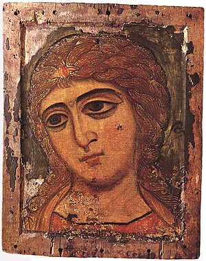 12th-century icon of Archangel Gabriel from No...