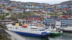 Ilulissat port, Greenland. Ocean Nova of Nova ...