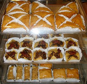 Many types of baclava