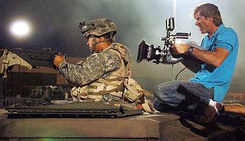 English: Movie director Michael Bay films a U....