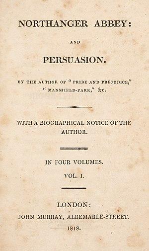 English: First edition of Jane Austen's Northa...