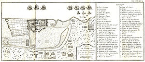 English: The French map of Fort St George, Mad...