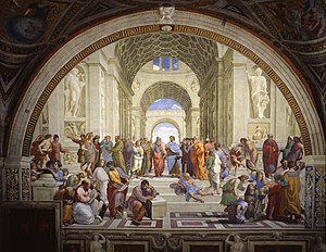 The School of Athens, fresco by Raphael (1509 ...