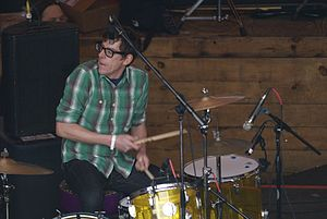 Patrick Carney, playing at SXSW in 2010