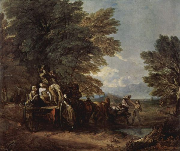 By the Harvest Wagon Thomas Gainsborough
