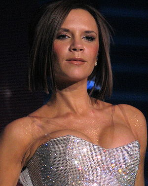 Closeup of English singer and model Victoria B...