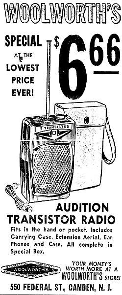 File:Vintage Advertising For The Audition 2 Transistor Boy