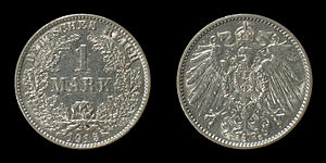 Coins of the German Empire (1871-1918), 1 Mark...