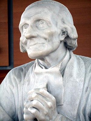 Ars, Statue of Jean-Marie Vianney by Emilien C...
