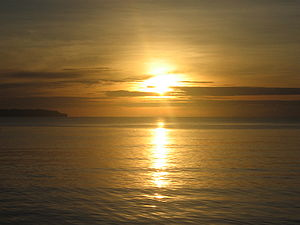 This picture shows the sunrise in Borongan Cit...
