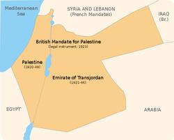 I nyere tid blev området Palæstina brugt at britterne efter 1. verdenskrig og omfatter også Jordan