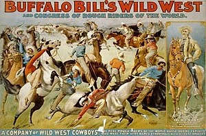 An 1899 poster of Buffalo Bill's Wild West and...