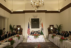 President George W. Bush and Prime Minister Ma...