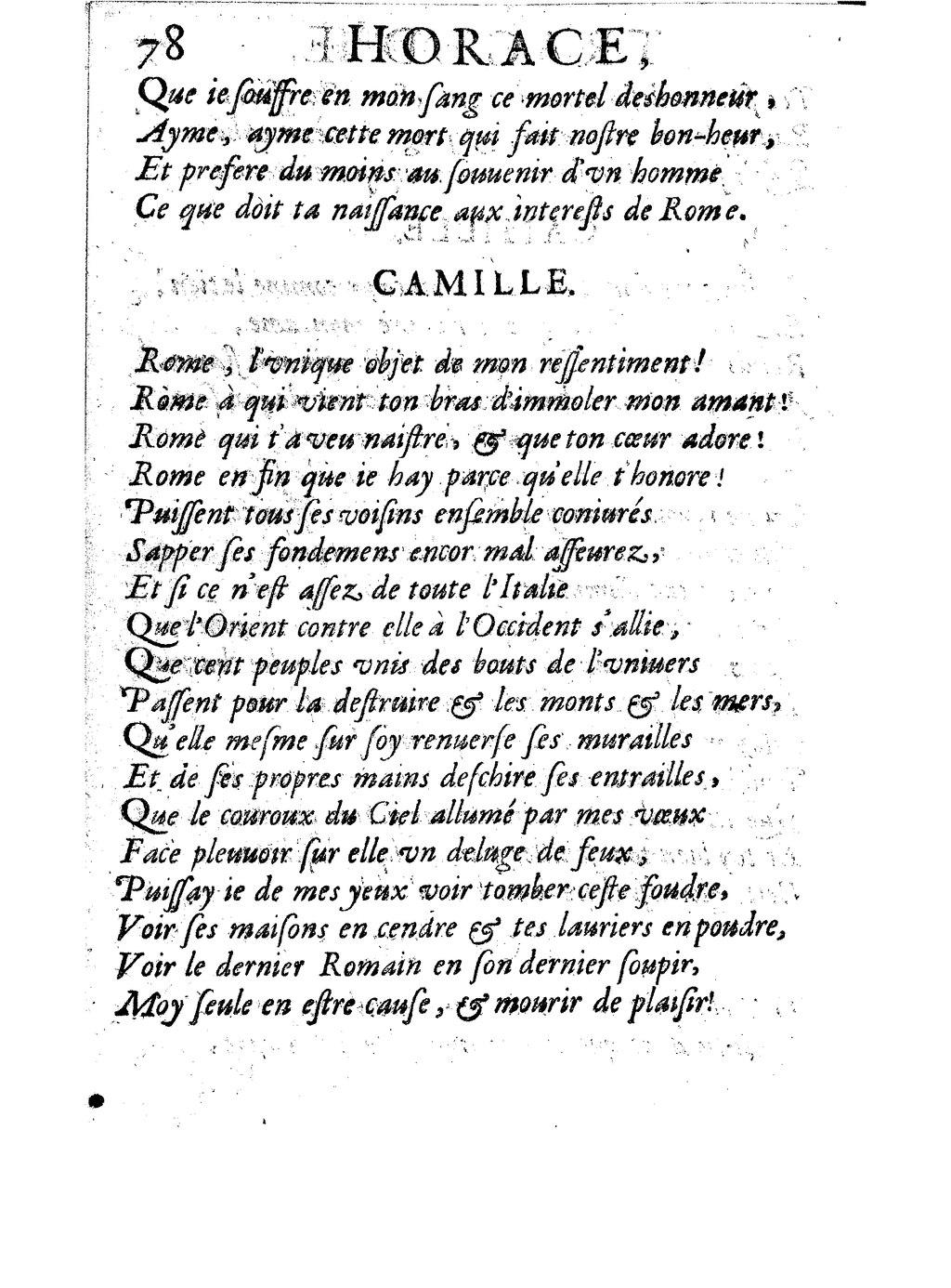 Rome Unique Objet De Mon Ressentiment : unique, objet, ressentiment, Page:Corneille, Horace,, 1641.djvu/88, Wikisource