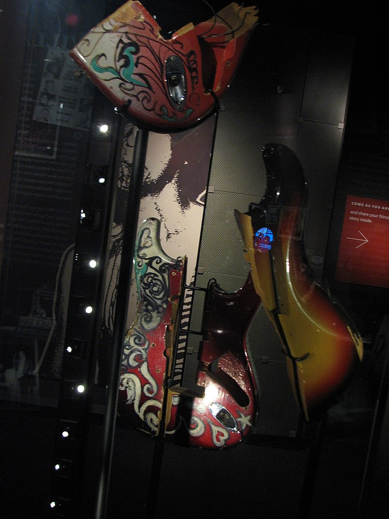 FileJimi Hendrix smashing guitar pieces EMP Museumjpg