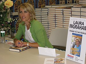 Laura Ingraham signs her new book, Power To Th...