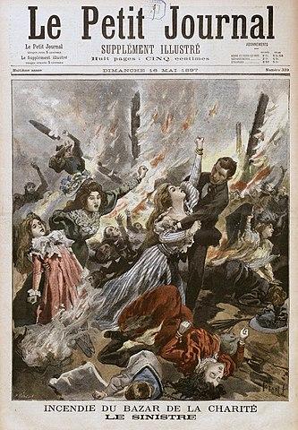 L'incendie Du Bazar De La Charité : l'incendie, bazar, charité, File:Le, Petit, Journal, Bazar, Charité.jpg, Wikimedia, Commons