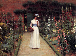 Leighton-Lady in a Garden