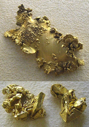 Chemical elements like gold are good candidate...