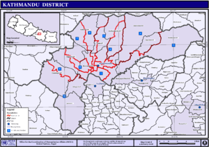Map of Kathmandu District The Full Wiki