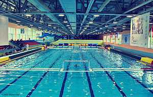 The swimming pool called Olympic (Georgia, Isa...