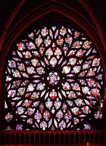 rozeta w stylu gotyku płomienistego, Sainte Chapelle
