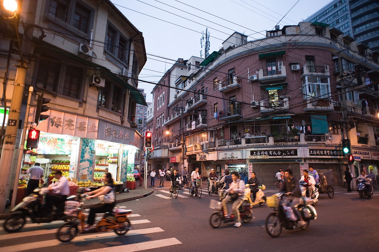 FileStreets of Shanghai at night China East Asiajpg
