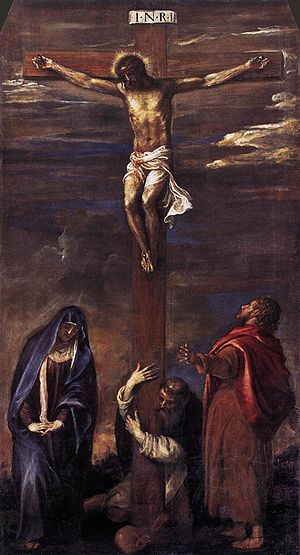 English: Titian's Ancona Crucifiction, 1558.