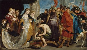 English: Legend of Tomyris by Rubens (the head...