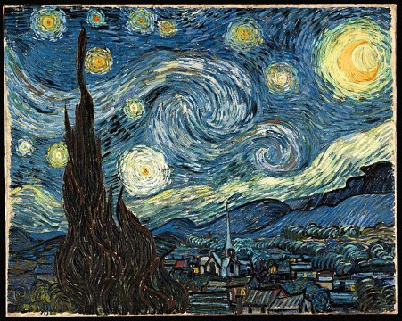"""Starry night"" von Vincent van Gogh (1889) sternennacht"