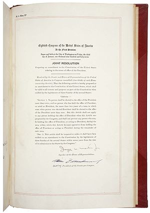 Amendment XXII in the National Archives
