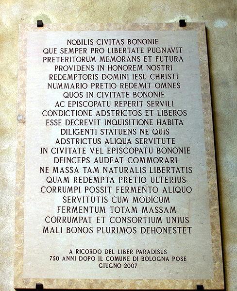 File:6248 - Bologna - Lapide, nel cortile di Palazzo d'Accursio - Foto Giovanni Dall'Orto, 9-Feb-2008.jpg