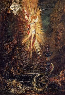 Apollo Vanquishing the Serpent Python by Gustave Moreau (1885)