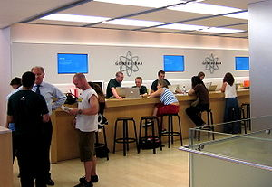 Picture of the Genius Bar in the Apple Store R...