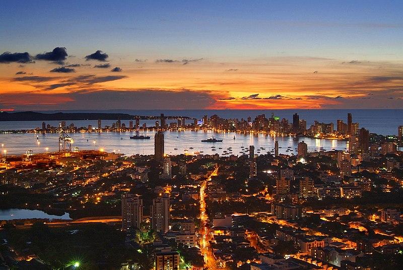 File:Atardecer en Cartagena de Indias desde La Popa..jpg