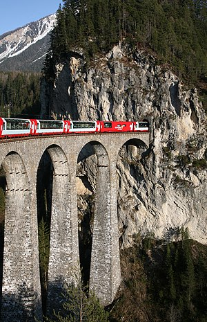 Rhaetian Railway Glacier Express on the Landwa...