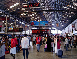 Inside Chennai Central Station, India